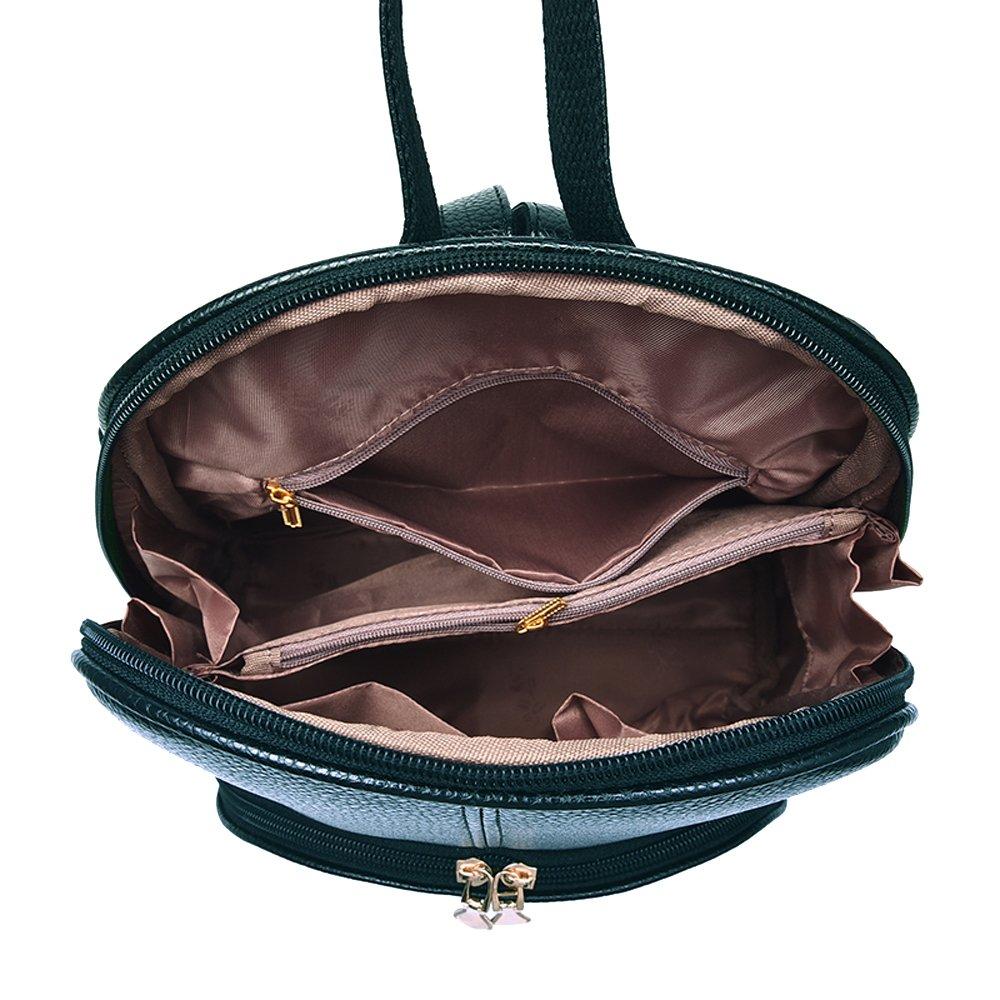 Nevenka Brand Women Bags Backpack Purse PU Leather Zipper Bags Casual Backpacks Shoulder Bags (Autumn Maple) by Nevenka (Image #3)