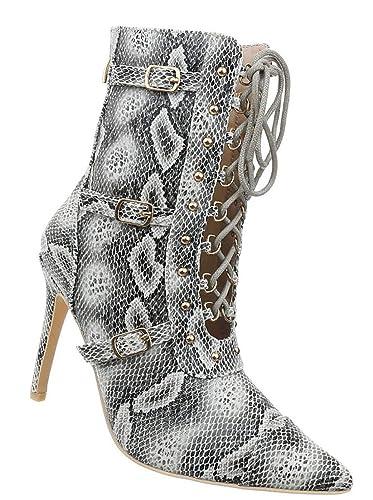 Damen Schuhe Stiefeletten    High Heels   Stiefeletten Stiefel Stiletto spitz   sexy ... e1bd22