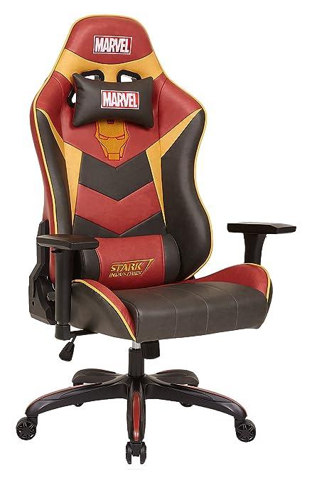 Con licencia Marvel Iron Man de Los Vengadores superhéroe ergonómico giratorio de espalda alta silla de escritorio Ejecutivo de oficina en casa ordenador ...