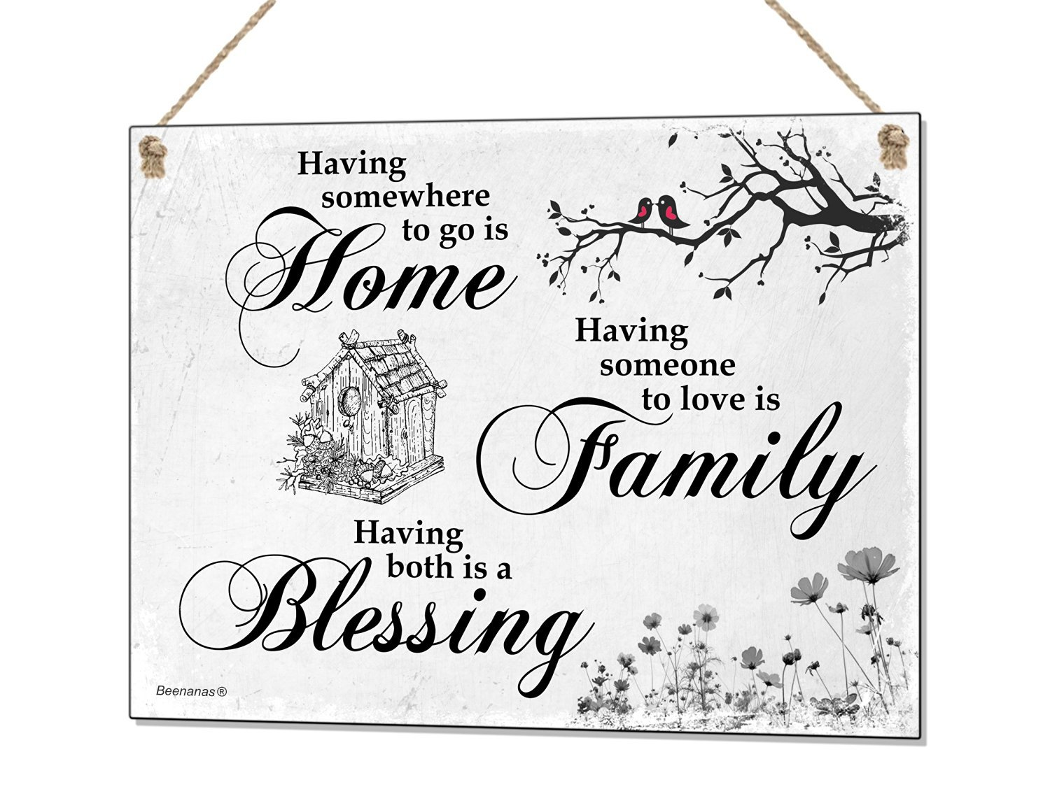 Home Family Blessing Metal Sign Tin Plaque Quote Wall Art Decor:  Amazon.co.uk: Kitchen U0026 Home
