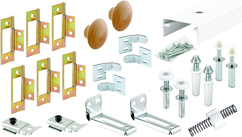 Bi-Fold Door Hardware Kit 14012WBC Richelieu Hardware White Zinc Beige  Finish