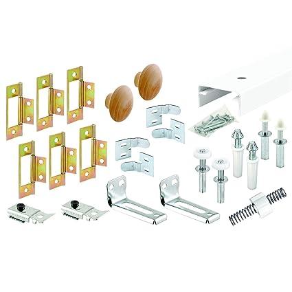 Slide Co 161797 Bi Fold Closet Track Kit 4 Door Hardware Pack 72