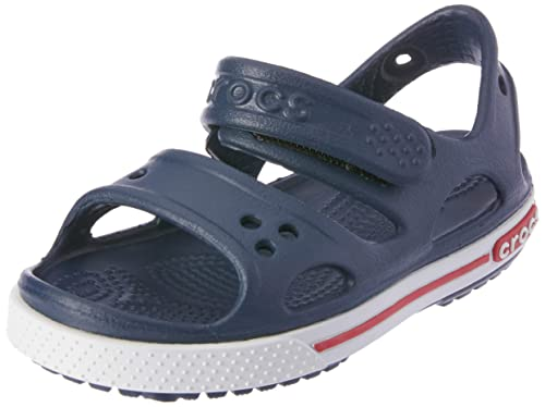 3c7ab24e7 Crocs Kids Unisex Crocband II Sandal (Toddler Little Kid) Navy White 10