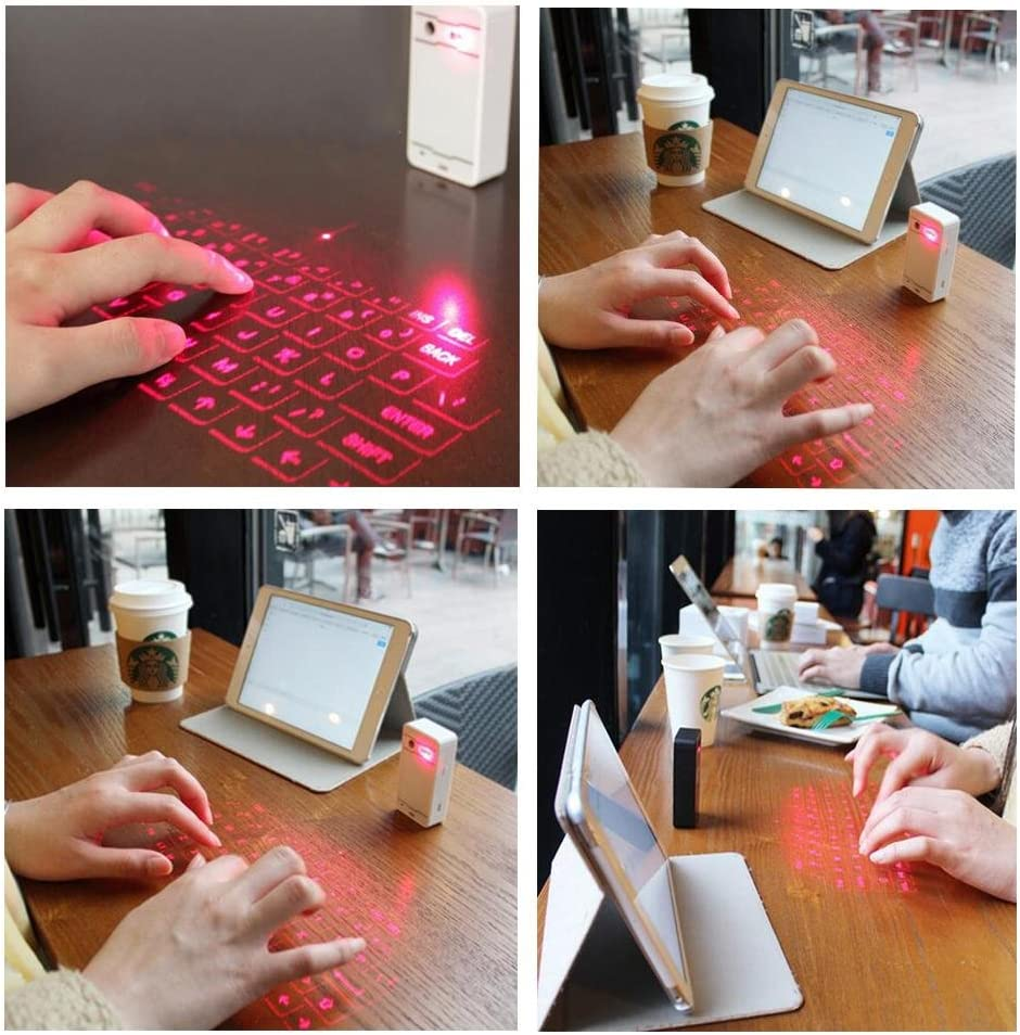 SHANGXIAN Virtual Laser Keyboard Bluetooth Projection Keyboards for Smartphone PC Tablet Laptop Computer