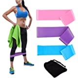 Backever Resistance Bands Exercise Bands Workout Bands Stretch Bands Loop Exercise Bands Kit for Legs Butt Glutes Yoga Crossfit Fitness Physical Therapy Home Gym Office Equipment Training