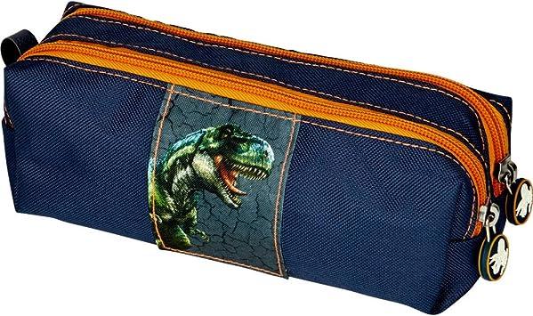 Spiegelburg 14537 Estuche Escolar Infantil con Doble Cremallera Azul Dinosaurio T-Rex World: Amazon.es: Juguetes y juegos
