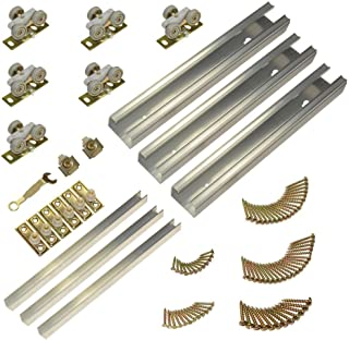 product image for Johnson Hardware 100MD Series 70 in. Track and Hardware Set for 3-Door Multi-Slide Doors