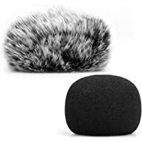 ChromLives Microphone Windscreen, Furry Windscreen Muff Wind Cover + Foam Microphone Windscreen Cover Compatible with…