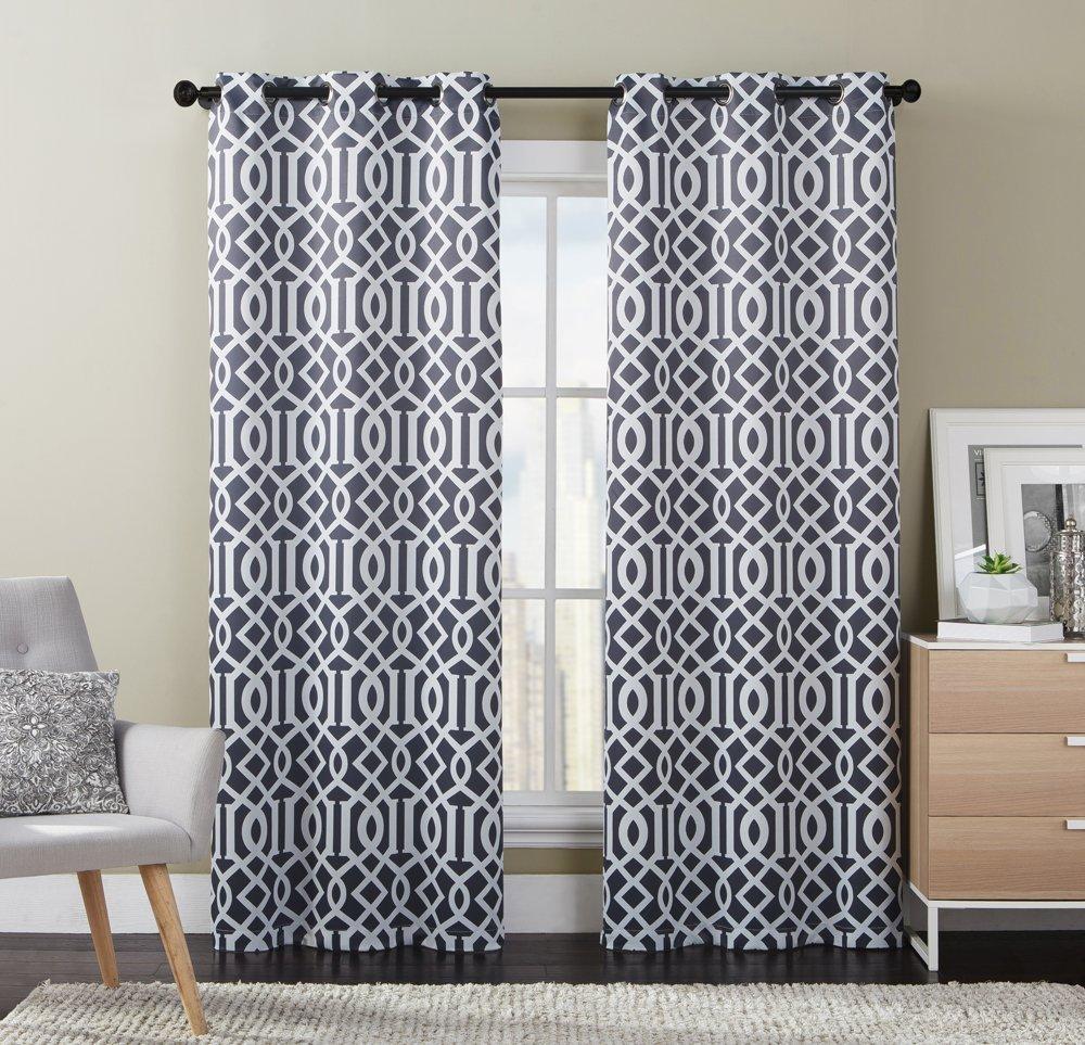 Luxury Home Aaron Panel Pair,76X84 76 x 84 Dark Charcoal