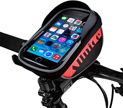 """Waterproof Touch Screen Bike Bicycle Handlebar Bag Holder Pouch 6"""" Cell Phone"""
