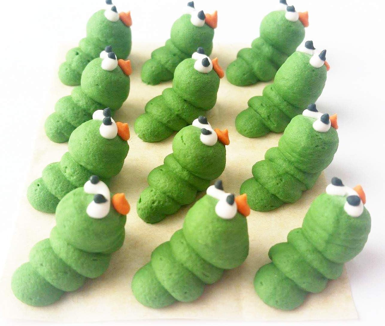 Lot de 12/d/écorations de g/âteau comestibles en sucre Insectes du jardin