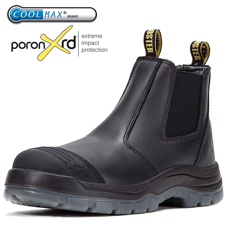 ROCKROOSTER Men's Work Boots Waterproof Slip-Resistant (AK227, US9)