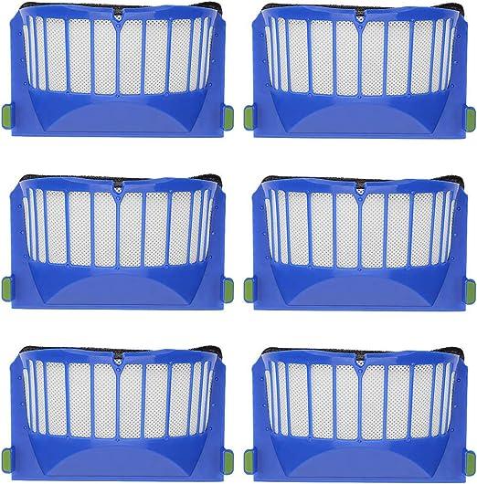 YanBan - Juego de 6 filtros de Repuesto para aspiradora iRobot Roomba 600 605 610 620 630 650 660 Series: Amazon.es: Hogar