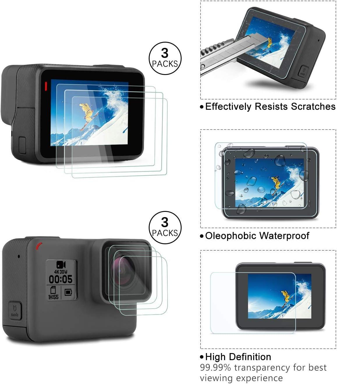 Starter Kit Travel Case Screen Protector Housing Case Silicone Cover for Go Pro Hero7 Hero6 Hero5 Outdoor Sport Kit Lens Cover 2018 Kupton Accessories for GoPro Hero 7//6// 5// Hero