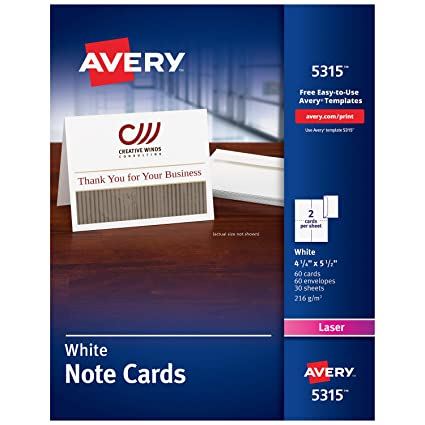 amazon com avery printable note cards laser printers 60 cards