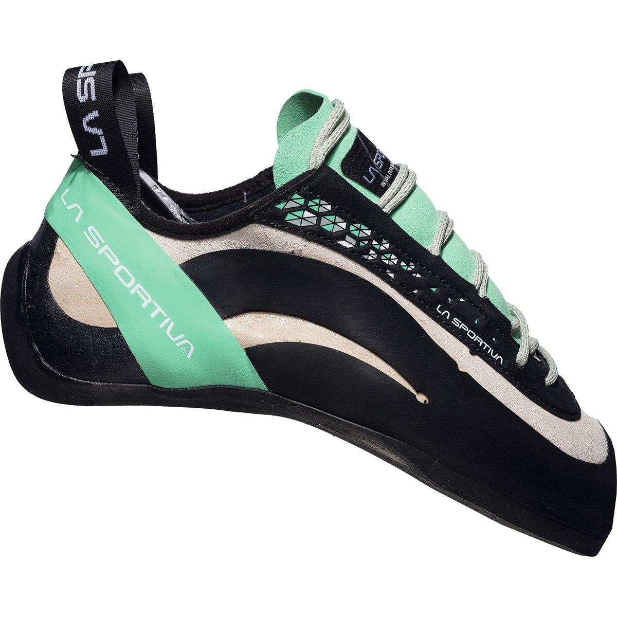 La Sportiva Miura climbing shoe – Women 's 41.5 M EU White/Jade Green B071WP9Y7D