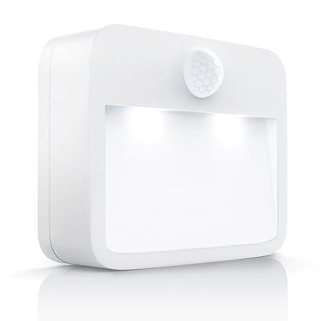 Brandson-Luz nocturna LED con sensor de movimiento y de claridad (