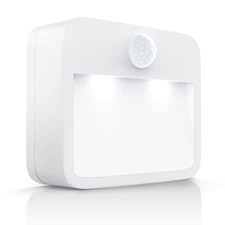 CSL-Computer Brandson - LED Nachtlicht mit Bewegungsmelder und Helligkeitssensor (Dämmungssensor) | Batteriebetriebene Nachtl