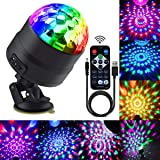 Disco Ball Party Lights Portable Rotating Lights Sound Activated LED Strobe Light 7 Color with Remote and USB Plug in…