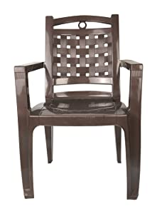 Nilkamal Armchair (Brown and Beige, Nilkamal_CHR_2196)