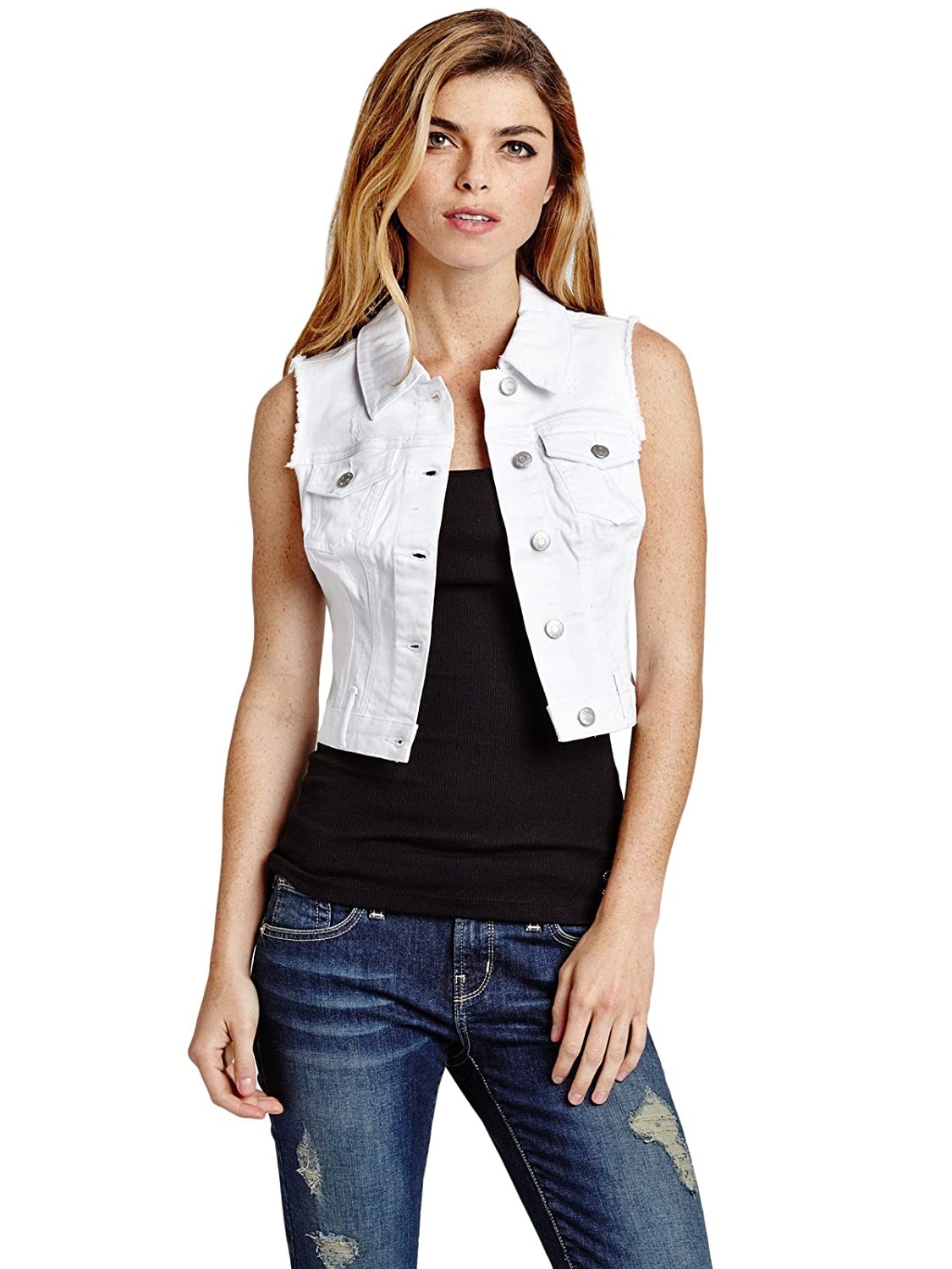 Guess Factory Women's Amery Denim Vest GuessFactory