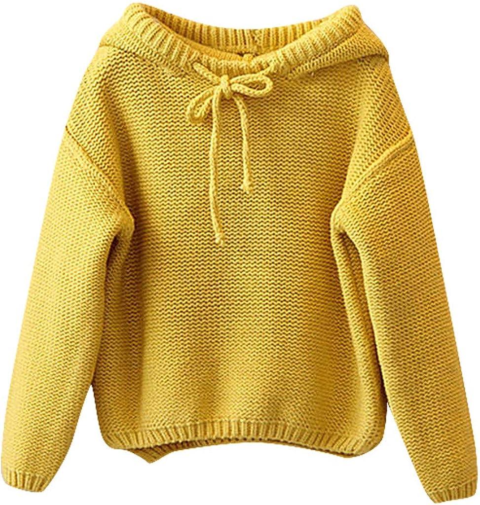 OVINEE Kleinkind Kinder Baby M/ädchen solide Kapuzenpullover Stricken h/äkeln Tops Kleidung Outfits