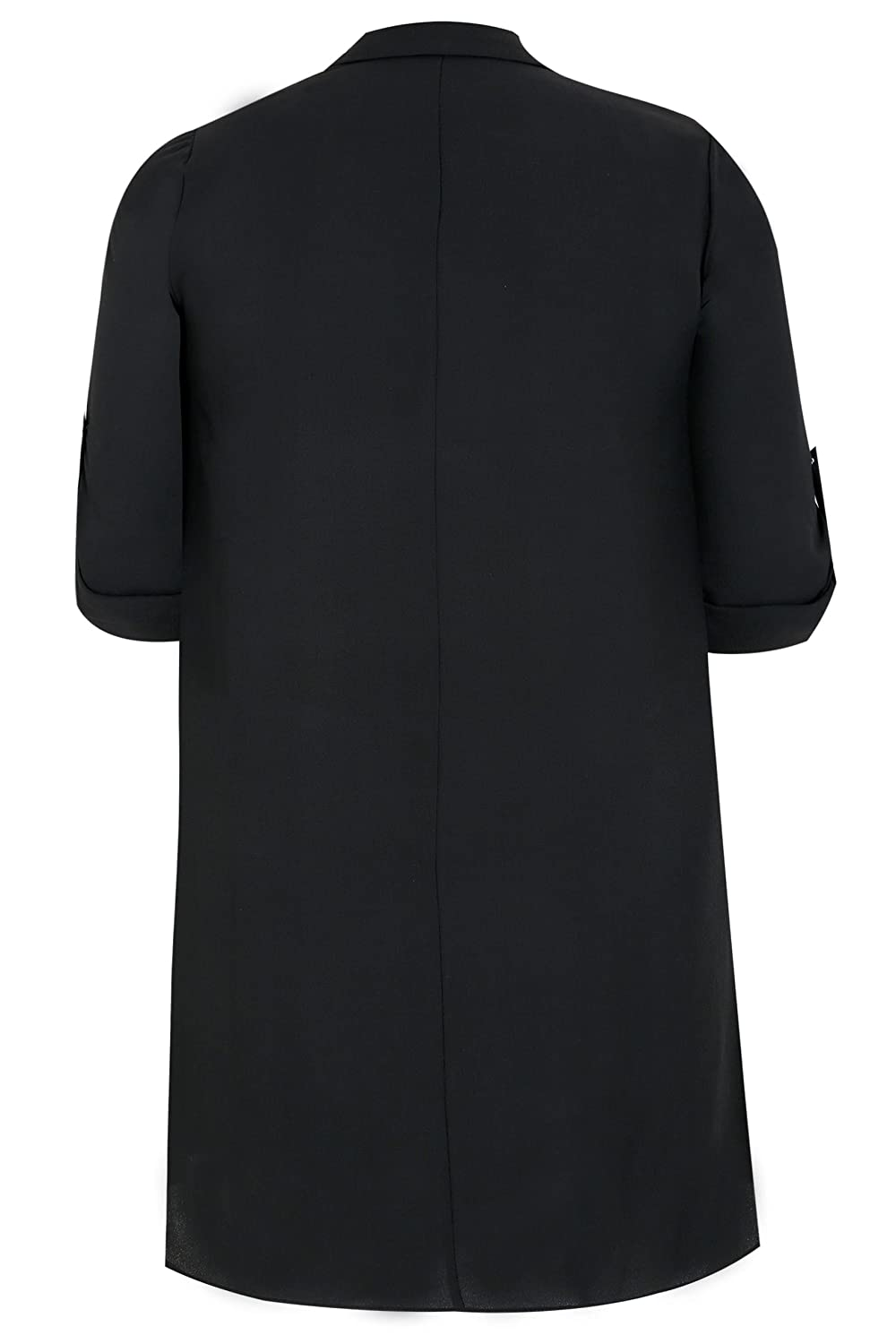 bdc6606bb8000 Yours Clothing Women s Plus Size Lightweight Duster Jacket with Waterfall  Front  Amazon.co.uk  Clothing