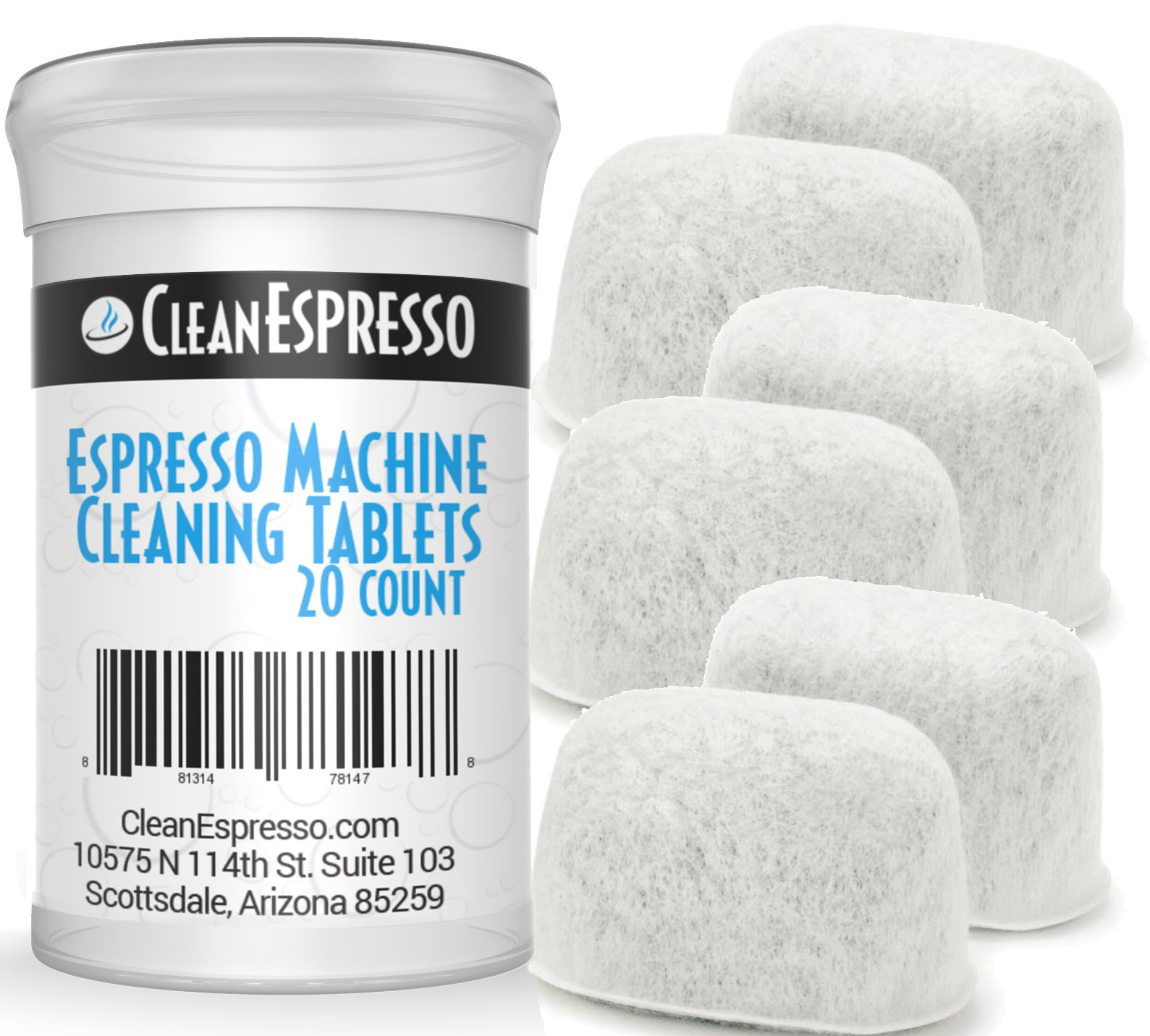 Espresso Machine Cleaning Tablets for Breville Machines + 6 Replacement Filters - Model BRF-020 - Espresso Machine Accessories by CleanEspresso