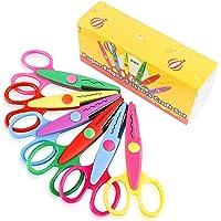 UCEC® Set de 6 Tijeras Coloridas Decorativas, Tijeras Dentadas de Diferentes Diseños para Manualidades, Ideal para Usos…