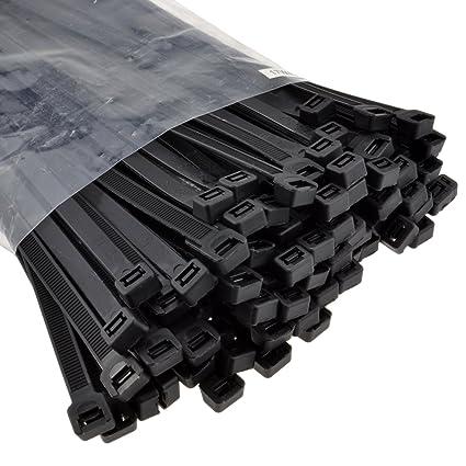 100 Stück Länge 450mm schwarz Breite 7,2mm InLine® Kabelbinder