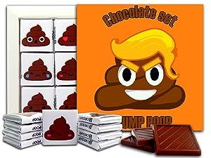 DA CHOCOLATE Candy Souvenir POOP EMOJI Chocolate Gift Set 5x5in 1 box (Trump Poop)
