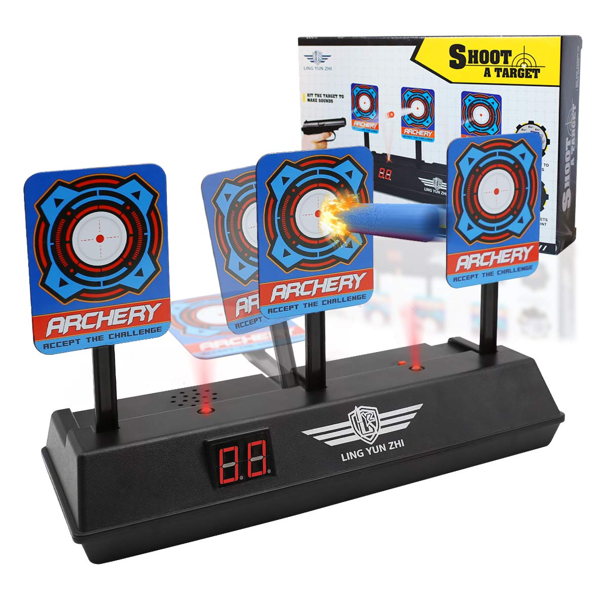 bd6b765dc Xplanet Electronic Scoring Target for Nerf N-Strike Elite/Mega/Rival Series  Kids Toy Auto-Reset Intelligent Light Sound Effect Scoring Target with  Light ...
