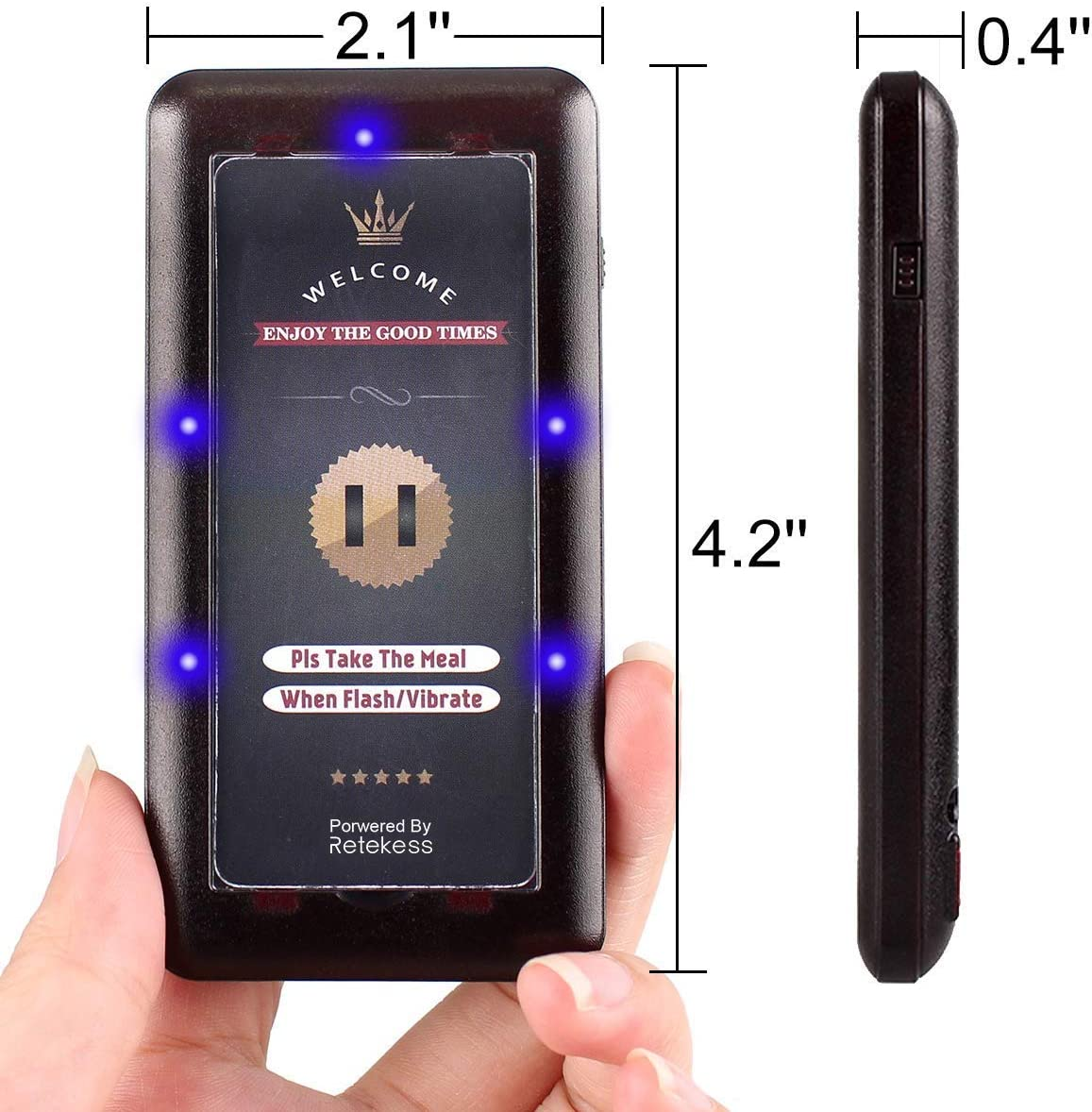 Retekess T115 Coaster Pager Receiver Rechargeable Queue Wireless Calling System Single Restaurant Buzzer for Church Nursery