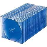 サンワサプライ 1枚収納×50 スリムBD DVD CDケース クリアブルー FCD-PU50BL