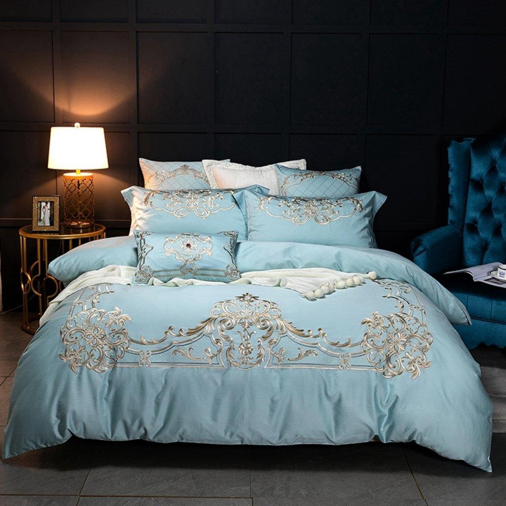 綿] 綿 刺繍 4 セット アメリカのピュア コットン 1.5 1.8 m 寝具 4 6 ピース半袖-A 200*230cm B07F1L2GY2 200*230cm|A A 200*230cm