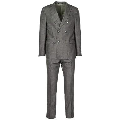 05fbe24af11 Emporio Armani Costume pour Homme Gris EU 50 (UK 40) 11VS6T11606626   Amazon.fr  Vêtements et accessoires