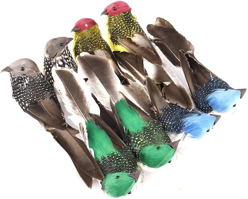 Wedding Artificial Birds Feather Foam Simulation Animal Model Lifelike Sparrow