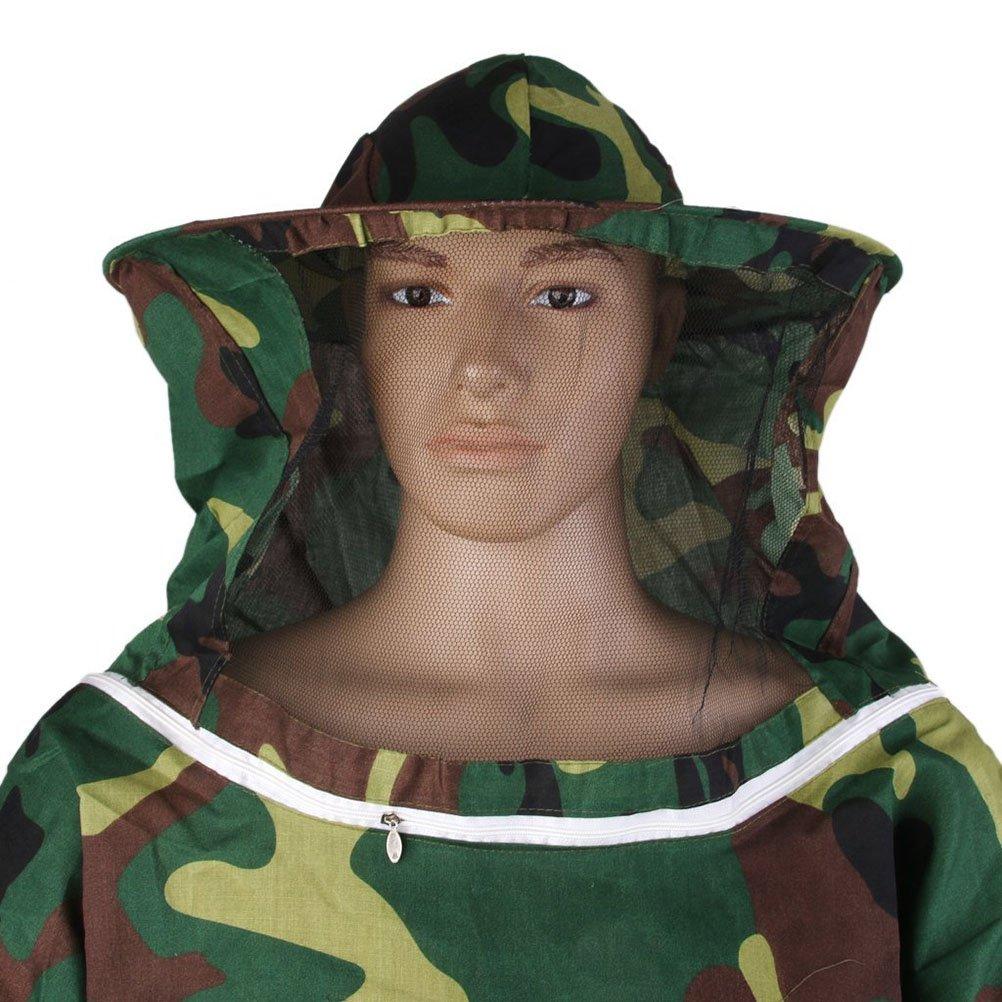 WINOMO Apicoltura attrezzatura giacca protettiva velo vestito apicoltura proteggendo camuffamento