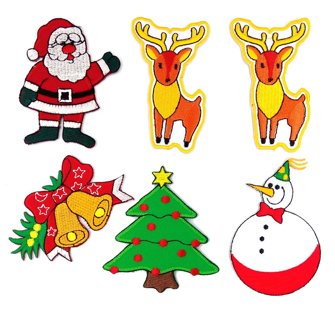 Amazon.com: Christmas Patches (Santa Patch, Bell Patch, Christmas ...