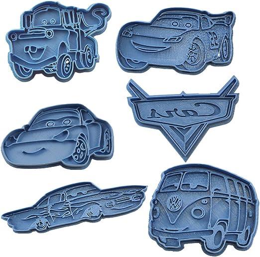 Cuticuter Cars Pack Cortador de Galletas, Azul, 16x14x1.5 cm, 6 Unidades: Amazon.es: Hogar