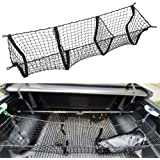AndyGo 3 Pocket Cargo Net Trunk Organizer 45-by-16-Inch Stretchable Truck Bed Storage Net Fit for Toyota Tacoma Tundra…