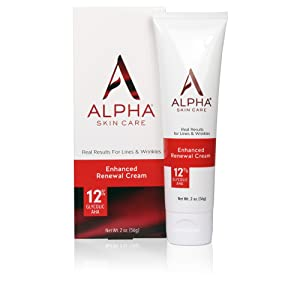 Alpha Skin Care Enhanced Renewal Cream | Anti-Aging Formula | 12% Glycolic Alpha Hydroxy Acid (AHA) | Reduces the Appearance of Lines & Wrinkles | For Normal to Dry Skin | 2 Oz