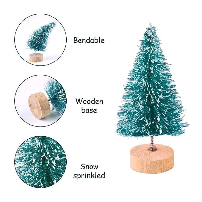 KUUQA 24 Jian Mini Colorido árbol de Navidad Xueshuang sisal ...