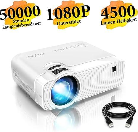 ELEPHAS - Proyector LED portátil (3300 lúmenes, soporta 1080P ...