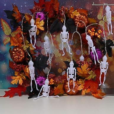 Lichterkette Feiliandajj 2 5m 10pc Ip44 Wasserfest Halloween Skeleton Skelett Lichterkette Led Licht Hochzeit Party Halloween Innen Aussen Haus Deko String Lights 2xaa Batterien D Sidra Hospital