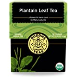 Organic Plantain Leaf, 18 Bleach-Free Tea Bags – Contains Essential Vitamins and Minerals, Antibacterial, Anti…
