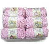 BERNAT Baby Blanket Yarn, 3.5oz, 6-PACK (Baby Pink)