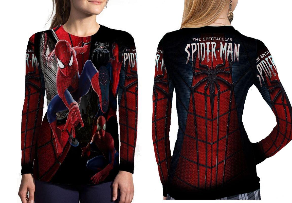 niadeカスタム新しいファンAmazing Spiderman Fullprint昇華レディーストップサイズS – 3 x l Small 長袖 B07DFKTK9V