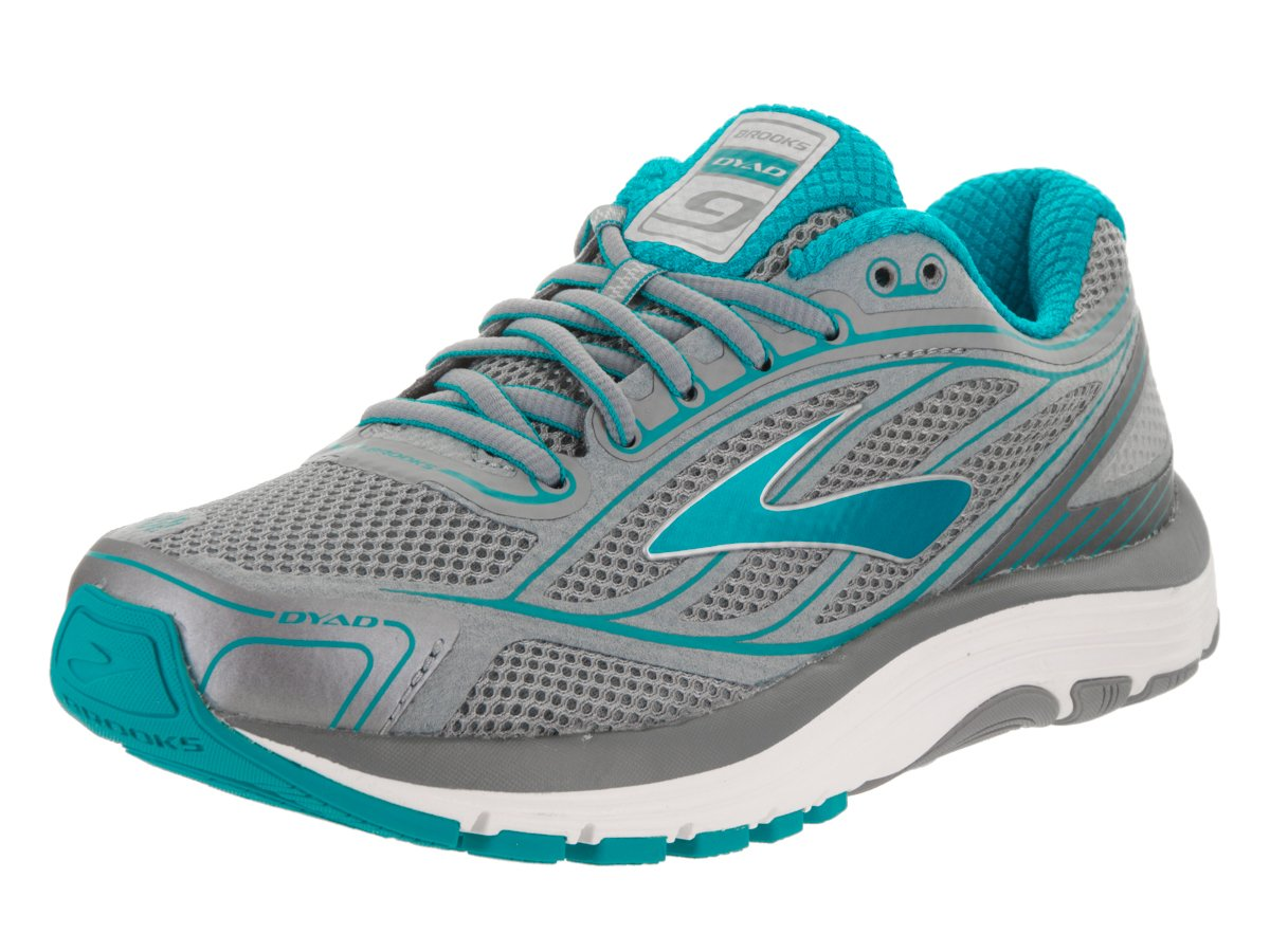 Brooks Women's Dyad 9 B01GEYFS0M 6 B(M) US|Primer Grey/Capri Breeze/Silver