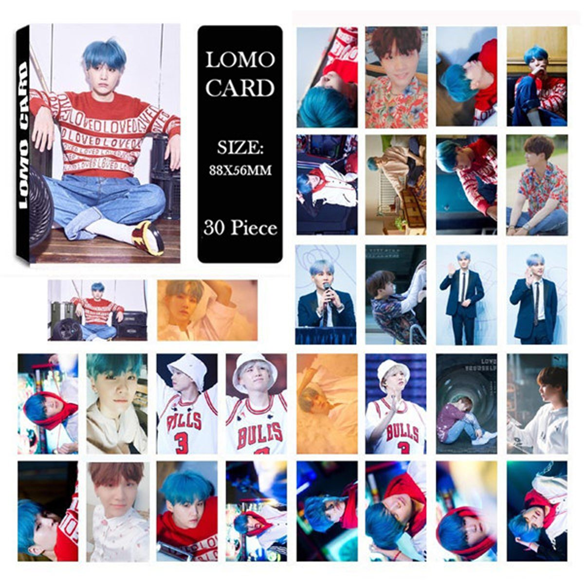 Kpop BTS Army Box Bangtan Boys BTS Album High Guality Gift Case for Jungkook Jimin V Bracelet Button Necklace (93 SUGA Box) by AIIVPO (Image #5)
